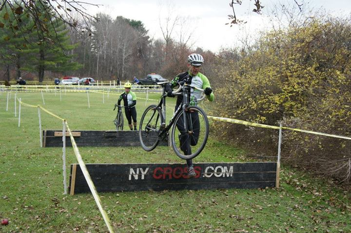Running through the obstacles at the Bethlehem Cup CX race, Fall 2013.
