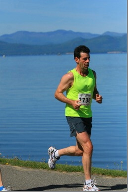 2008 Vermont City Marathon. Beautiful course, on my way to a 3 hour and 22 minute finish.